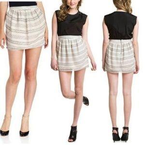 BCBG Gatsby Embroidered Striped Tulle Skirt NWOT